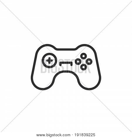 Gamepad line icon outline vector sign linear style pictogram isolated on white. Symbol logo illustration. Editable stroke. Pixel perfect