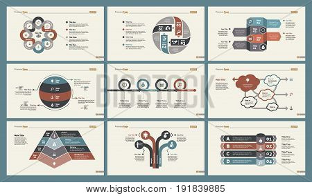 Infographic design set can be used for workflow layout, diagram, annual report, presentation, web design. Business and statistics concept with process and flow charts.