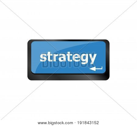 Strategy Button On Computer Keyboard Key Button