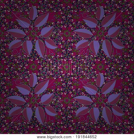 Motley seamless pattern. Vector abstract leaf background. Pretty floral print with small leaves.