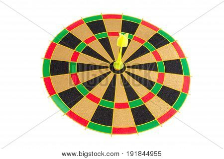 Yellow Dart is in the center of the target.