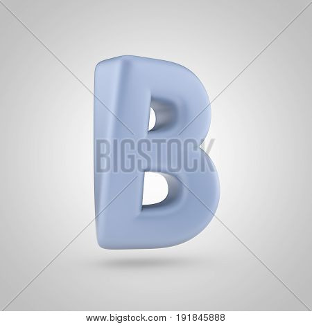 Serenity Color Letter B Uppercase Isolated On White Background