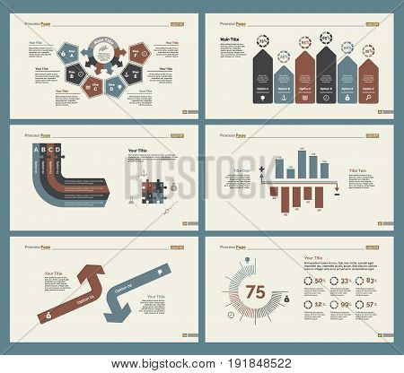 Infographic design set can be used for workflow layout, diagram, annual report, presentation, web design. Business and analyzing concept with process, bar and percentage charts.