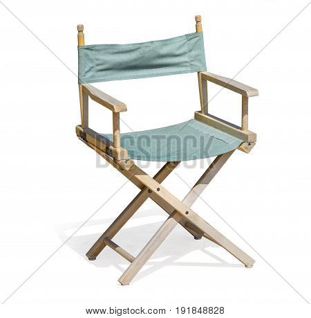 Director chair isolated on white background with clipping path