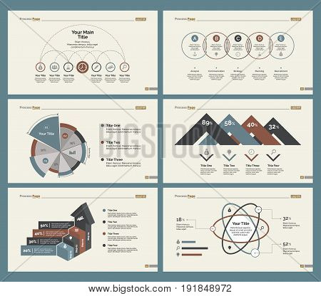 Infographic design set can be used for workflow layout, diagram, annual report, presentation, web design. Business and finance concept with process, bar, pie and percentage charts.