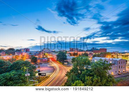 Athens, Georgia, USA downtown cityscape.