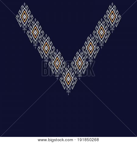 Ethnic Neck Embroidery for fashion and other uses in vector.