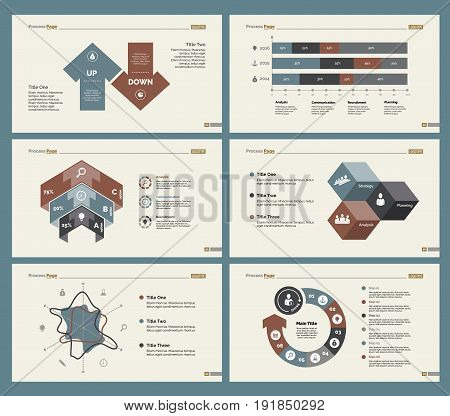 Infographic design set can be used for workflow layout, diagram, annual report, presentation, web design. Business and research concept with process, radar and percentage charts.