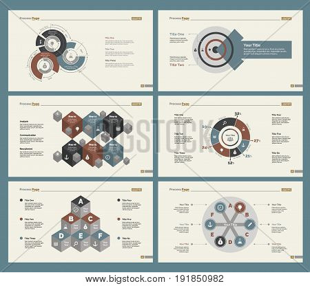 Infographic design set can be used for workflow layout, diagram, annual report, presentation, web design. Business and teamwork concept with process and doughnut charts.