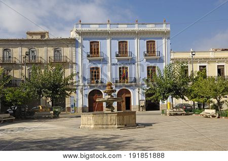 Town Hall And Square In Chelva, Comunitat Valenciana, Spain