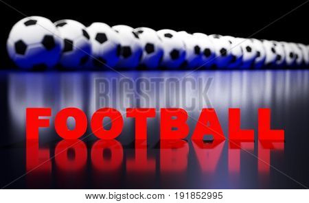 Football Balls And Text