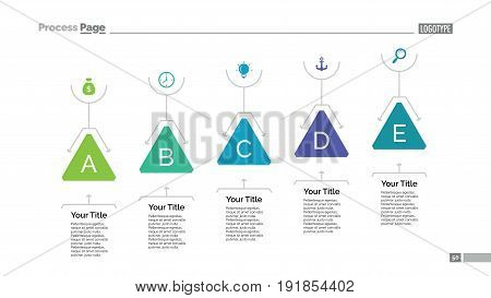 Process chart slide template. Business data. Graph, diagram, design. Creative concept for infographic, templates, presentation, report. Can be used for topics like planning, training, production.