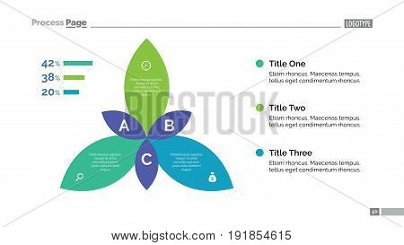 Percentage chart slide template. Business data. Graph, diagram, design. Creative concept for infographic, templates, presentation, report. Can be used for topics like planning, statistics, research.