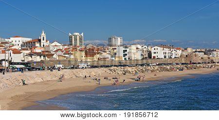 Village And  Beach Buarcos, Figueira Da Foz, Portugal