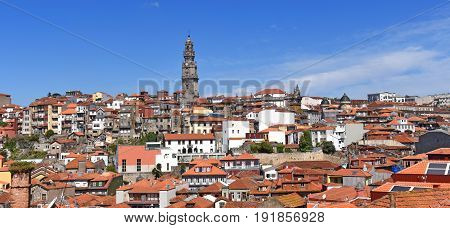 View of the city of Porto Portugal