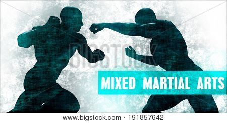 Mixed Martial Arts Self Defence Training Concept 3D Illustration Render