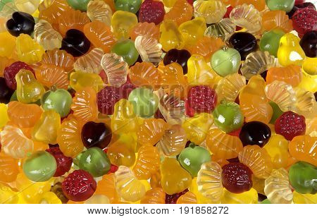 close up of a Gummy candies fruit