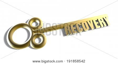 Instant Access to Recovery as a Key Concept 3D Illustration Render