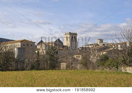 Another View Of The Medieval Village Of Besalu In Garrotxa, Girona Province, Catalonia, Spain