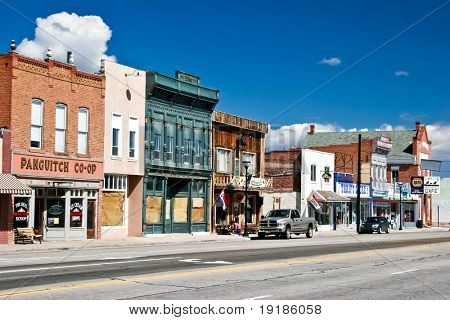 PANGUITCH, UT - MAY 7: Morning day at authentic street in style wild west on 7 may, 2007 Panguitch, UT. First settled by Mormon Pioneers in 1864 Panguitch is a Paiute Indian word, meaning