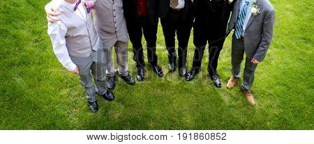 Group of boys or young men ready for prom