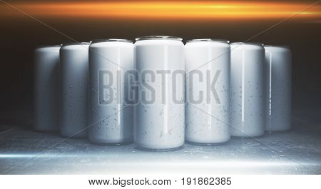 Blank Aluminium Drink Cans Front