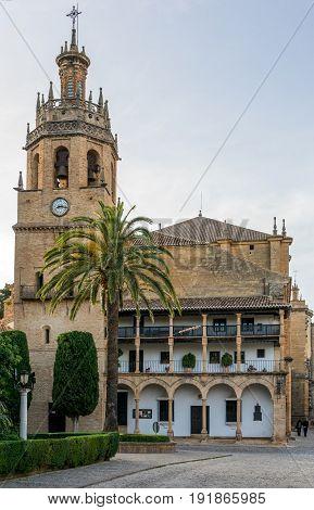 The Santa Maria church in Ronda Spain.