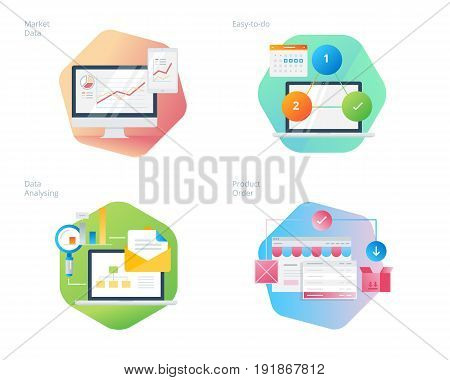 for business, management, marketing, e-commerce and shopping. UI/UX kit for web design, applications, mobile interface, infographics and print design.