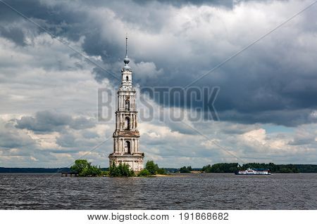 Belltower Of The St. Nicholas Cathedral, Kalyazin, Russia