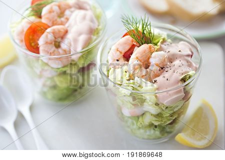 Prawn cocktail with cherry tomatoes and dill