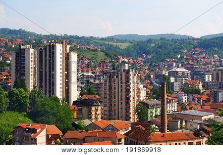 Uzice town in Serbia, Europe