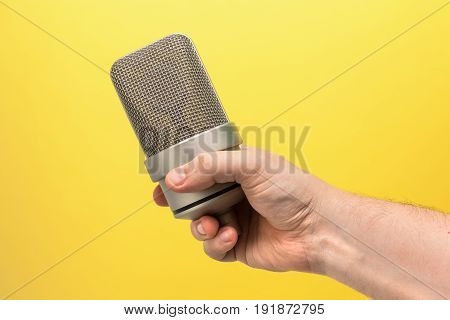 Mic, Professional Microphone In Hand