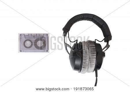 Cassette Tape With Headphones