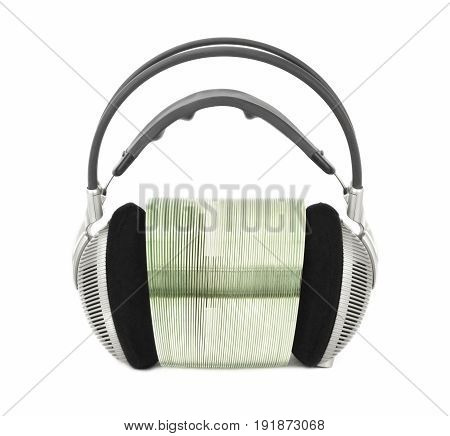 Headphones For Listening To Music With Multimedia Cd / Dvd