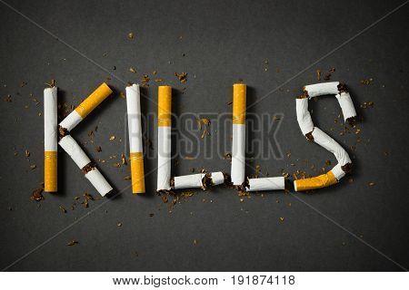 Smoking Kills Concept