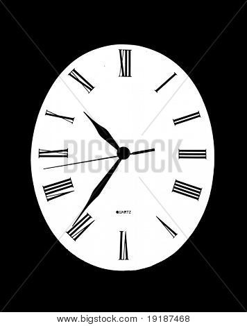 Abstract clock on white background.