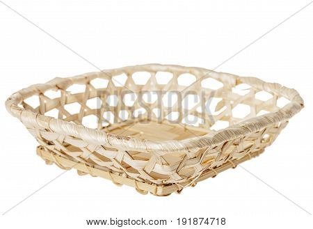 Wooden Basket Isolated