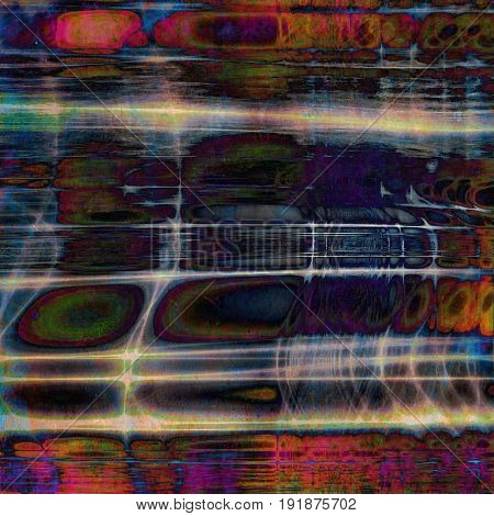 Grunge background or texture with vintage frame design and different color patterns: yellow (beige); green; blue; red (orange); purple (violet); cyan