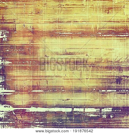 Colorful designed grunge background. With different color patterns: yellow (beige); brown; red (orange); purple (violet); pink