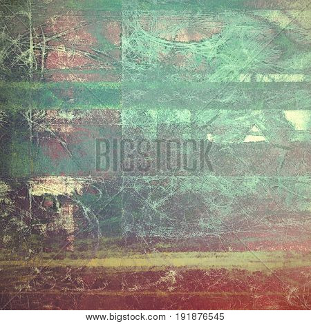 Vintage background with dirty grungy texture or overlay and different color patterns: yellow (beige); brown; green; blue; cyan; pink