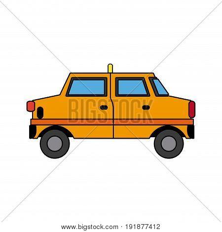 yellow taxi car transport public service vector illustration