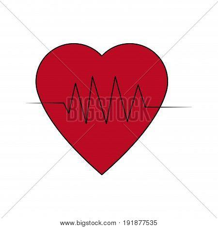 heartbeat line heart cardio analysis medicine vector illustration