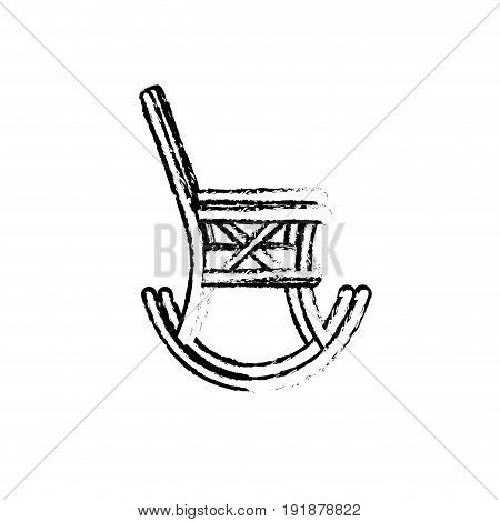 figure comfortable chair to relaxation object icon vector illustration