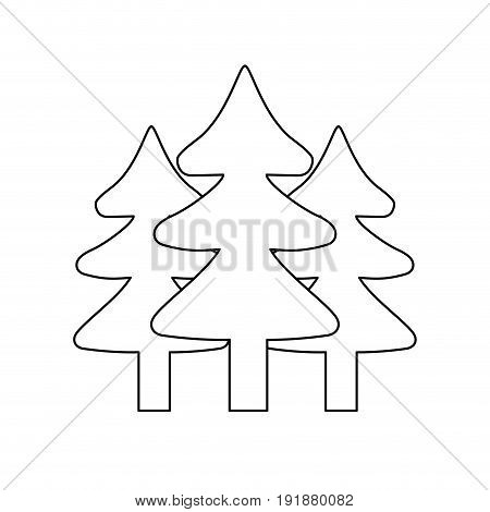 line natural pine trees to ecology reserve vector illustration