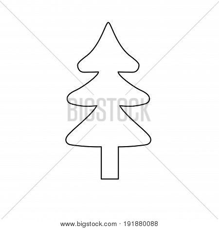 line natural pine tree to ecology reserve vector illustration