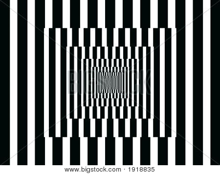 Op Art Vertical Reflections Black And White