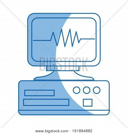 monitoring cardiology pulse cae device equipment hospital vector illustration