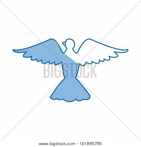 bird pigeon freedom peace wings open vector illustration