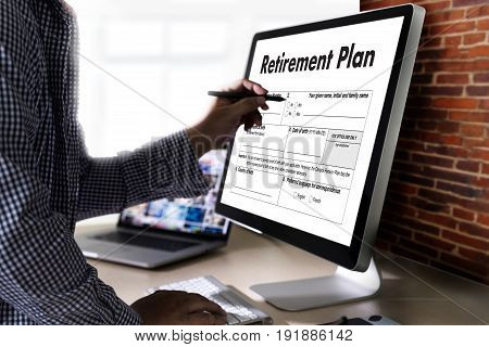 Retirement Plan Time To Money Saving For Retirement Concept