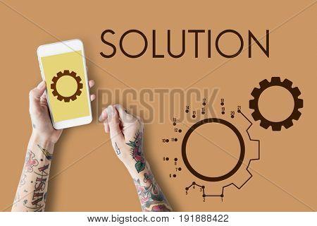 Configuration Operation Solution System Icons Symbols